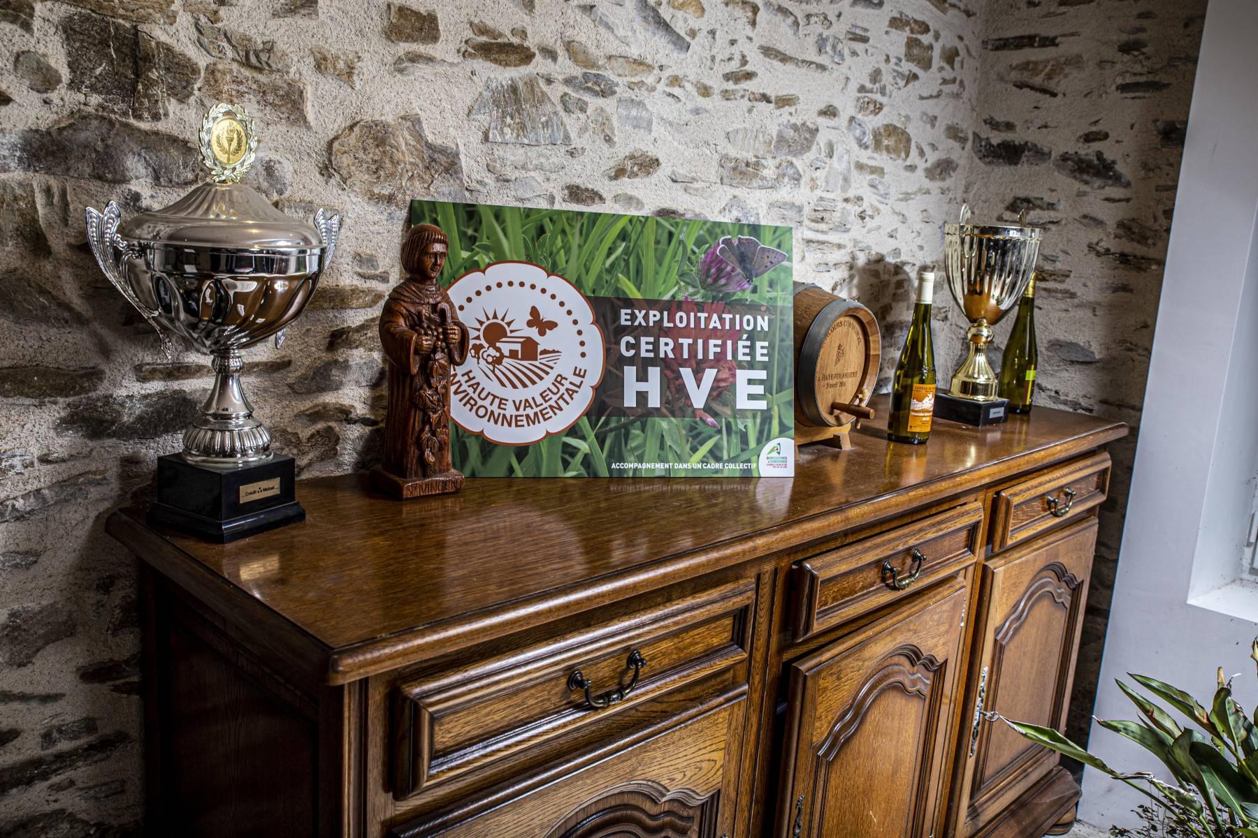 certification HVE en viticulture Domaine du Paradis